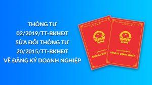 Thông tư 02/2019/TT-BKHĐT về đăng ký doanh nghiệp